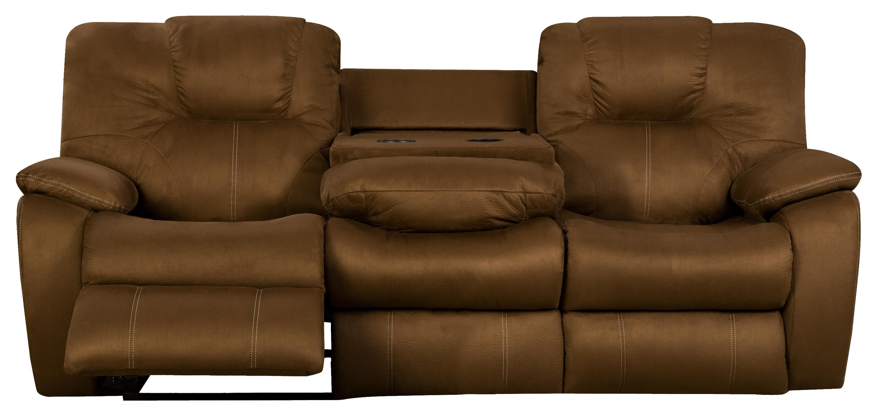 Superior Southern Motion AvalonReclining Sofa With Drop Down Table