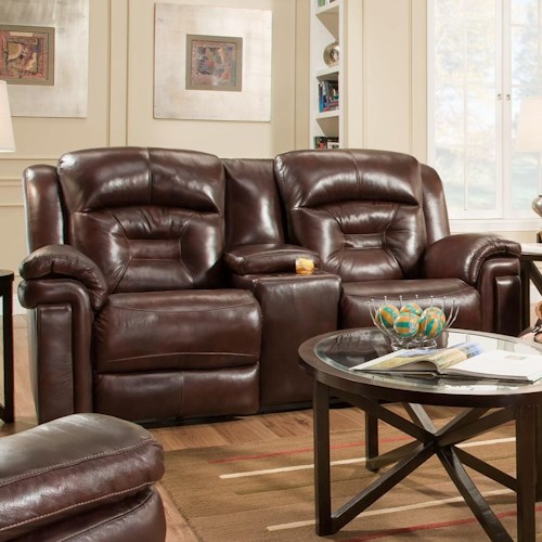 Southern Motion Avatar Double Reclining Console Sofa