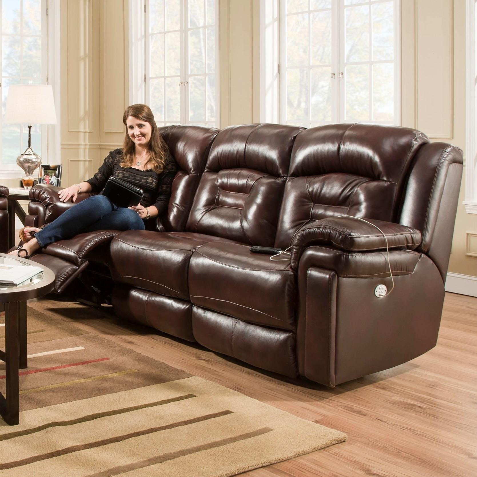 Southern Motion AvatarDouble Reclining Power Headrest Sofa