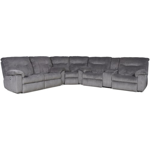 Southern Motion Big Shot 5 Seat Sectional (Standard Recline)