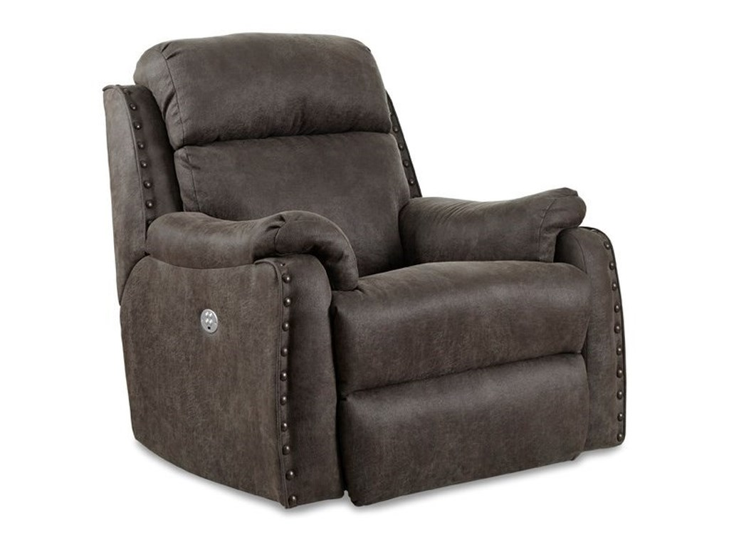 Southern Motion Blue RibbonWall Hugger Recliner with Power Headrest