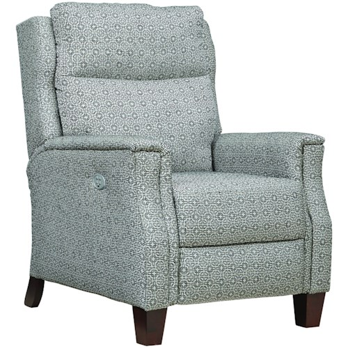 Southern Motion Bowie Transitional Power High Leg Recliner