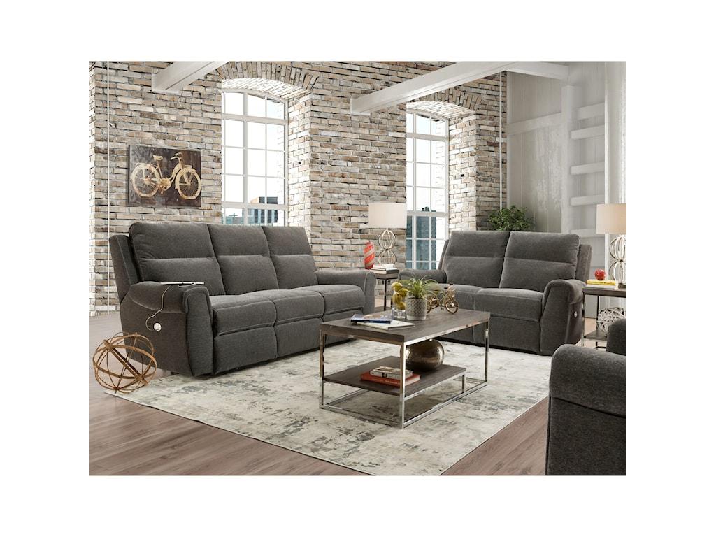 Southern Motion BraxtonDouble Reclining Power Sofa