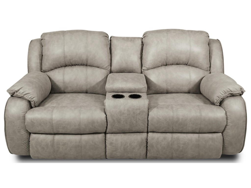 Cagney Comfy And Convenient Console Sofa With Reclining Chairs Cup Holders By Southern Motion At Ruby Gordon Home