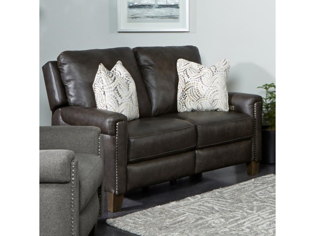 Southern Motion Cameron CovePower Headrest Loveseat with Pillows