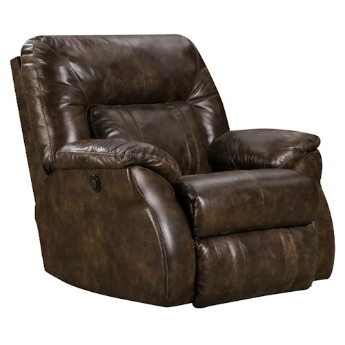 Design to Recline Cosmo Power Lay-Flat Recliner with Casual Style