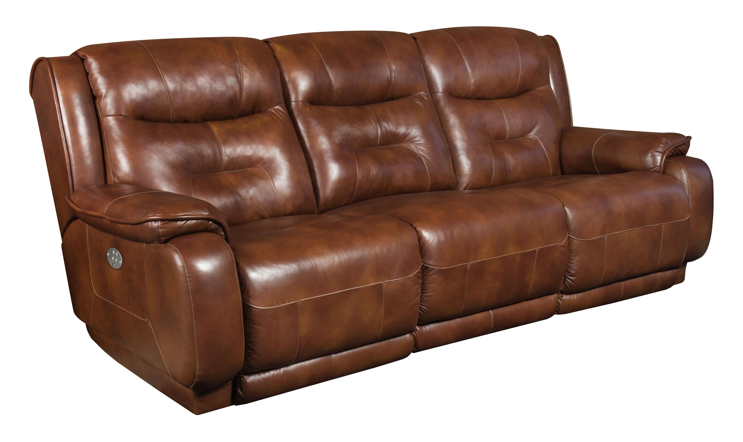 Southern Motion CrescentDouble Reclining Sofa With Power Headrest