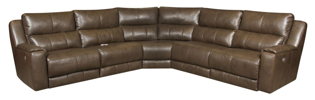 Southern Motion Dazzle Reclining Sectional Sofa With 5 Seats And  ~ Fabric Sectional Sofa With Power Recliner