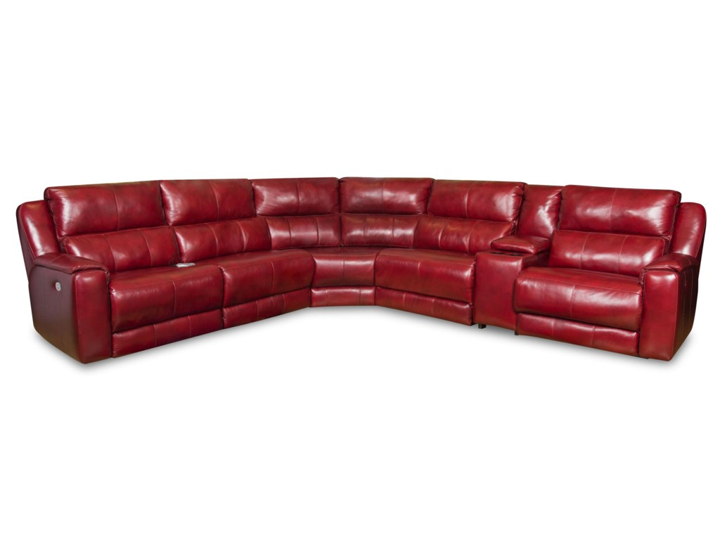 Southern Motion DazzleSectional w/ Cup Holders and Power Headrests