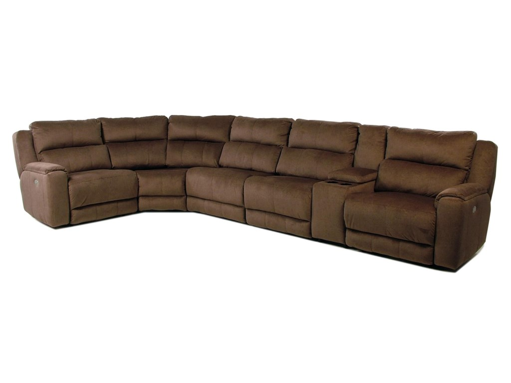 Design to Recline Tranquility6PC Power Reclining Sectional