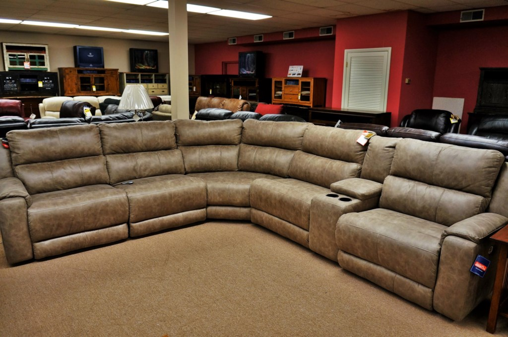 Southern Motion Dazzle Reclining Sectional Sofa With 5 Seats And  ~ Power Motion Sectional Sofa