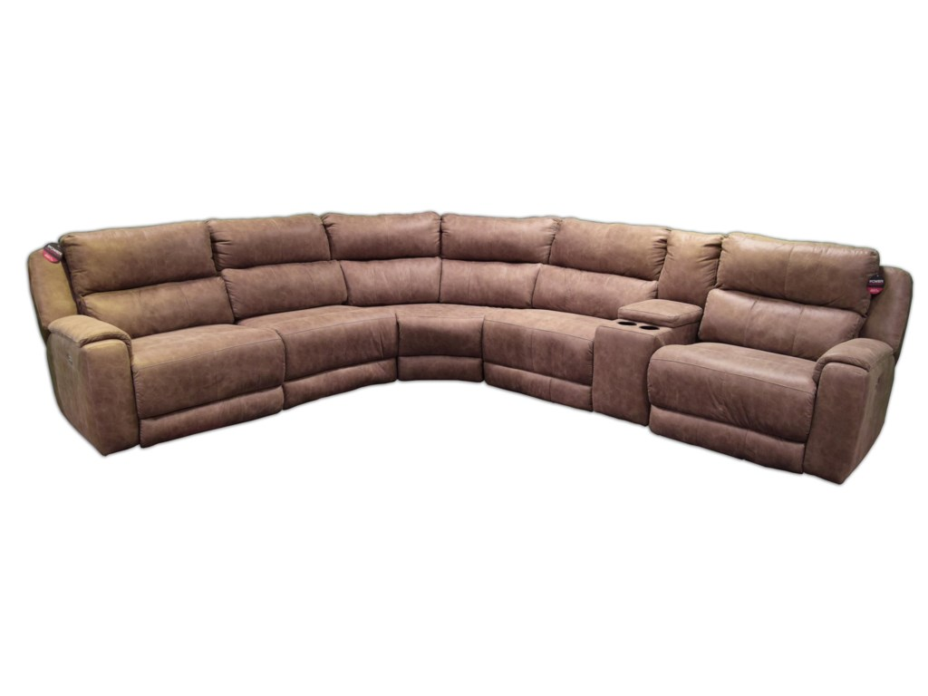 ComfortZone DazzleSectional w/ Cup Holders and Power Headrests