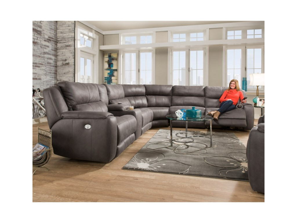Southern Motion DazzlePower Plus Reclining Sectional Sofa