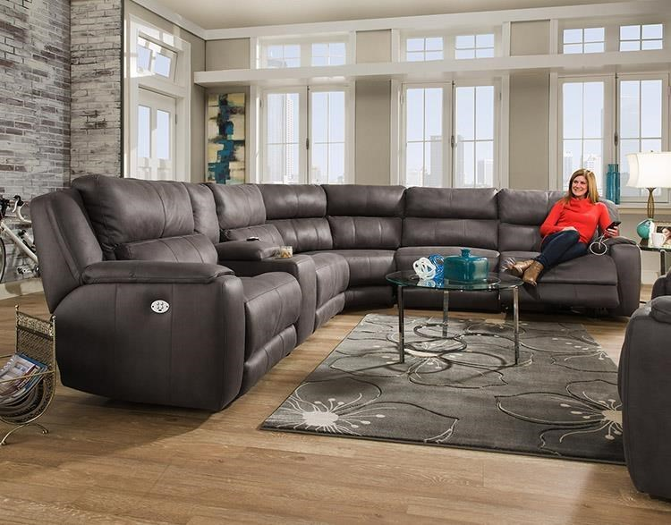 Southern Motion Dazzlesectional W Cup Holders And Headrests