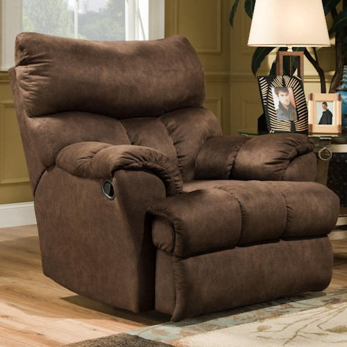 Southern Motion Dreamer  Casual Styled Rocker Recliner for Soft Living Room Comfort