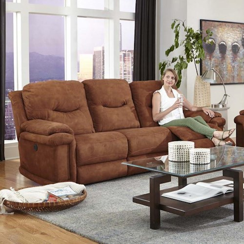 Design to Recline Duran Double Reclining Sofa with Power Plus