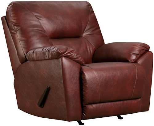 Southern Motion Dynamo Lay-Flat Rocker Recliner for Family Rooms