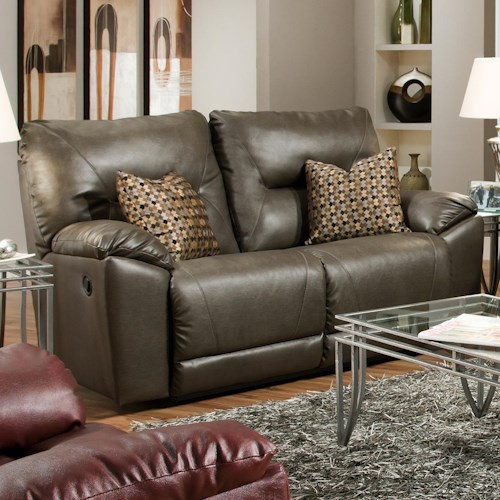 Southern Motion Dynamo Double Reclining Loveseat with Pillows for Family Rooms