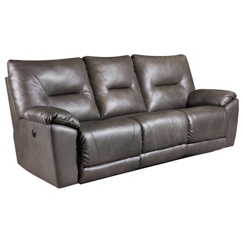 Southern Motion Dynamo Double Reclining Sofa for Family Rooms