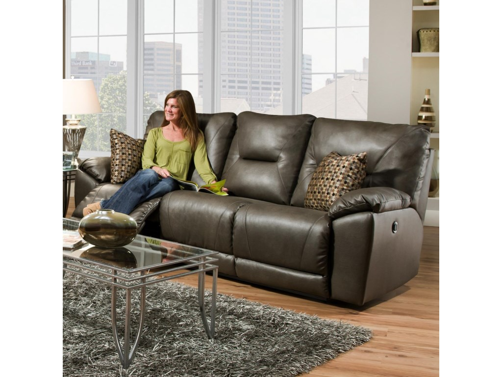 Southern Motion DynamoDouble Reclining Sofa with Pillows