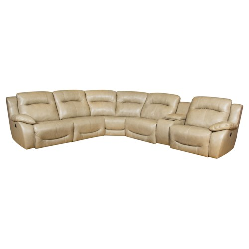 Southern Motion Eclipse Corner Shaped Reclining Sectional with 5 Seats