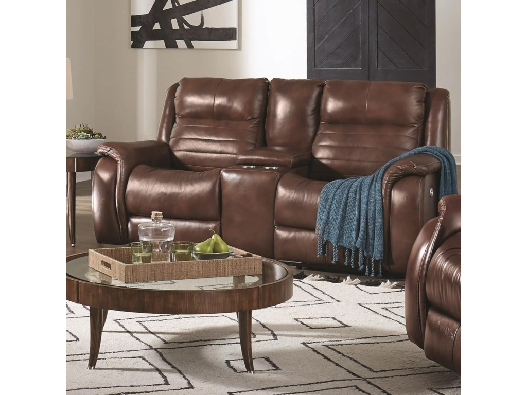 Southern Motion EssexWireless Console Power Loveseat