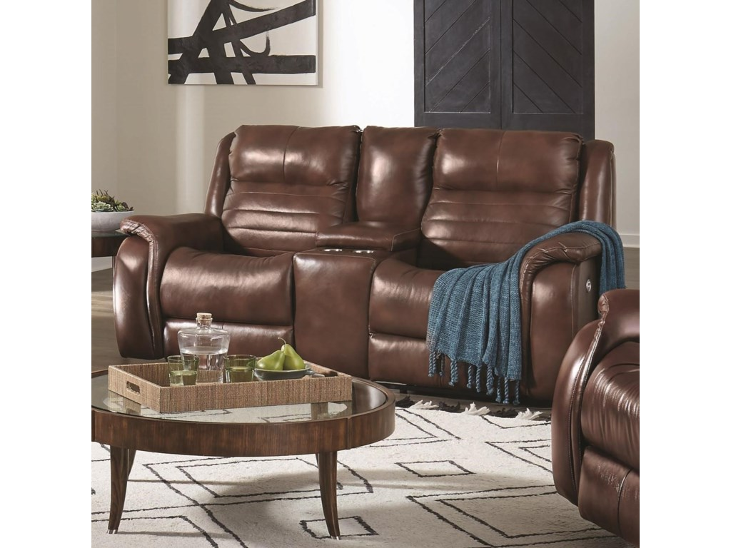 Southern Motion EssexConsole Power Headrest Loveseat with SoCozi