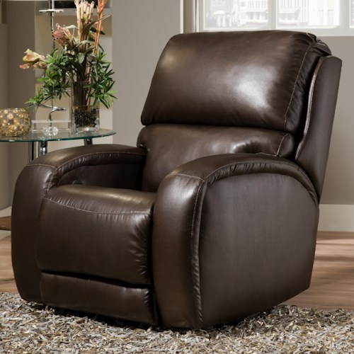 Design to Recline Fandango 884 Casual Rocker Recliner with Updated Family Room Style