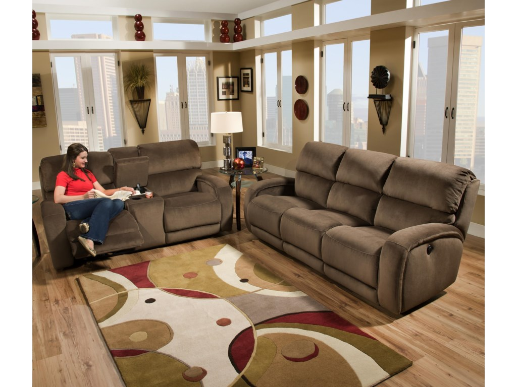 Southern Motion Fandango 884Power Plus Console Loveseat