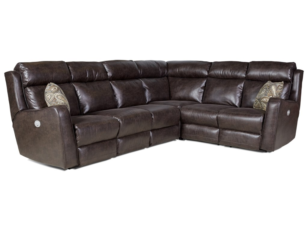 Southern Motion First Class - 718Power Reclining Sectional Sofa with 5 Seats