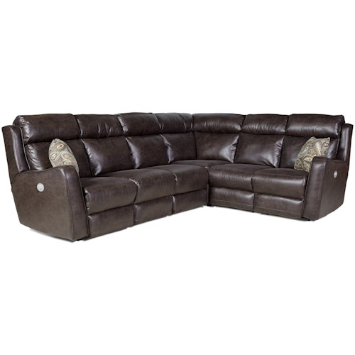 Southern Motion First Class - 718 Power Reclining Sectional Sofa with Five Seats