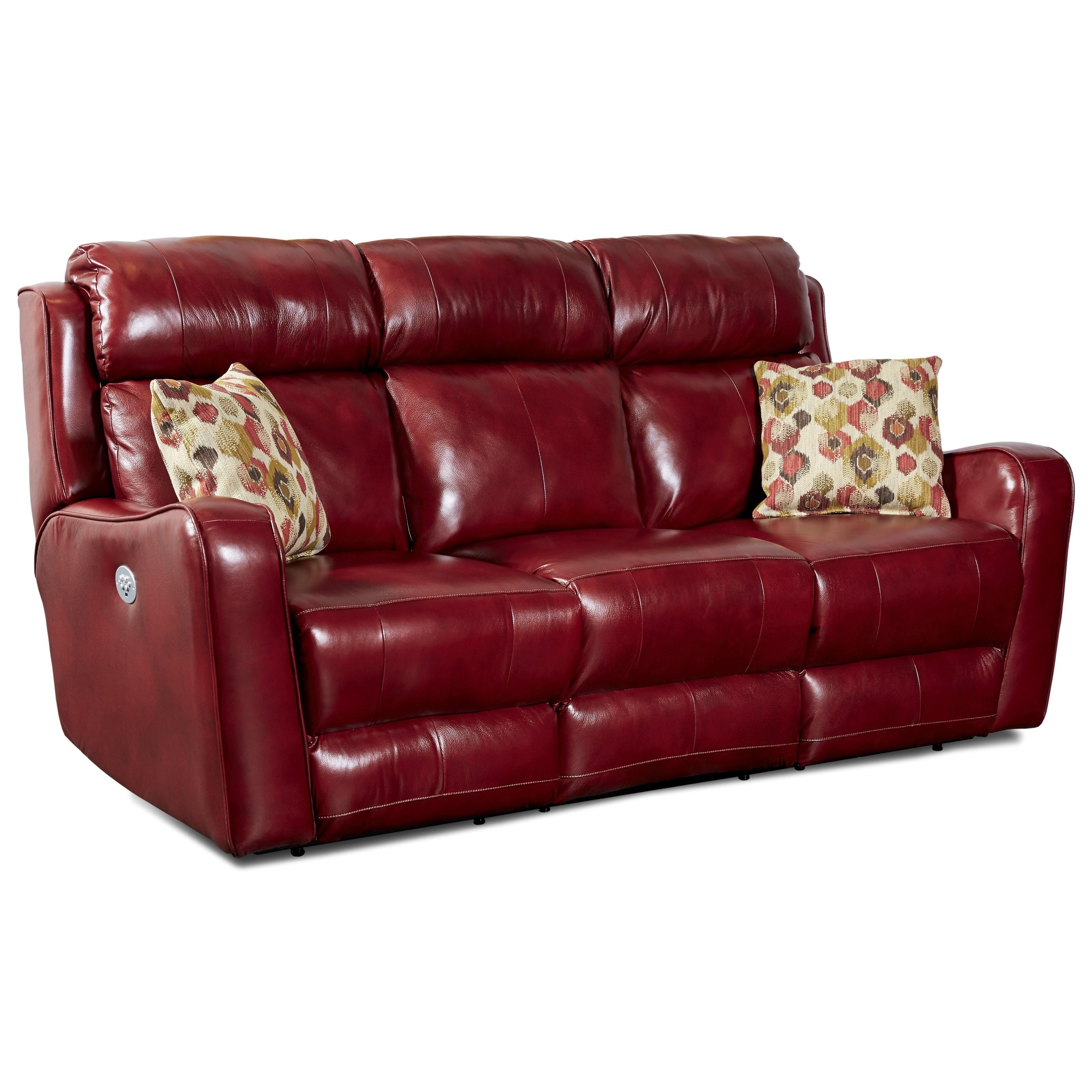 Southern Motion First Class   718Reclining Sofa W/ Pillows U0026 Power Headrest  ...