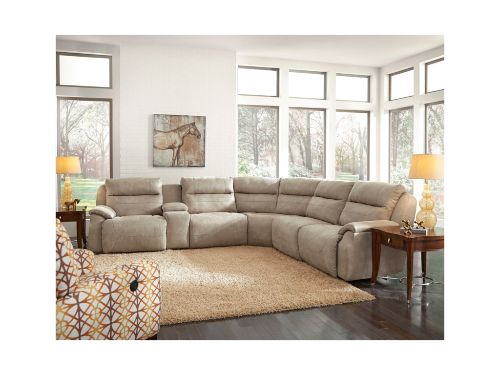 Southern Motion Five StarFive Seat Reclining Sectional