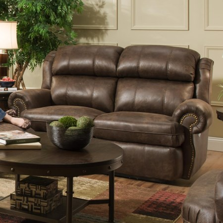 Double Rec. Loveseat with Power Headrests
