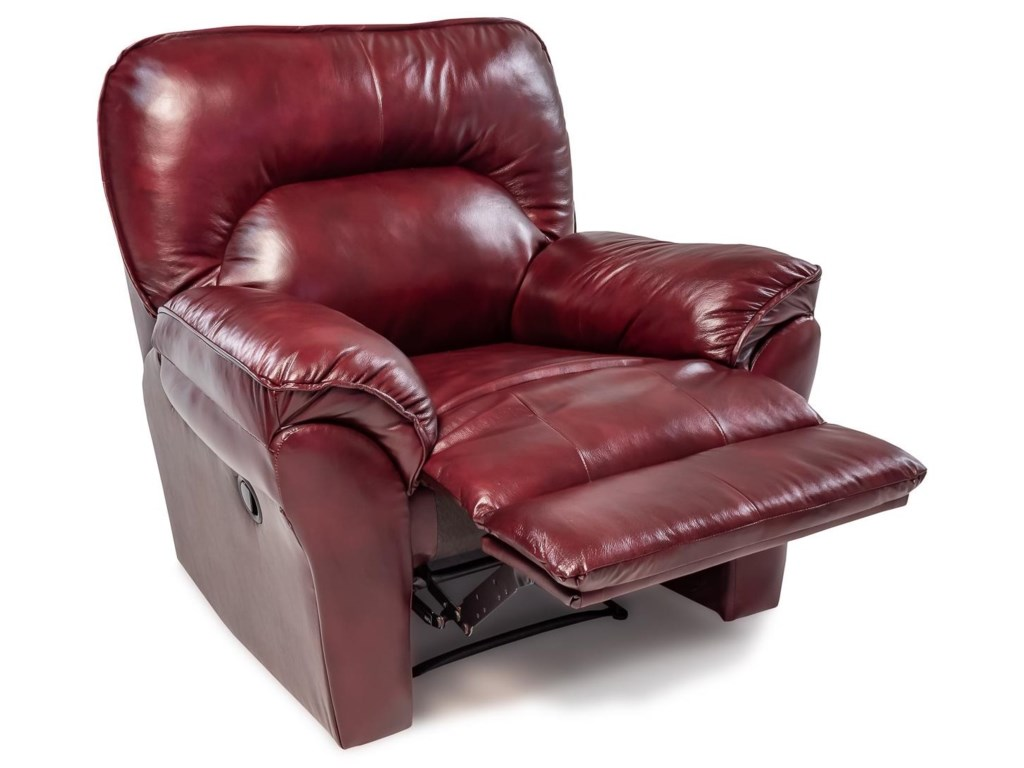 Design to Recline MiaLeather Wallhugger Recliner