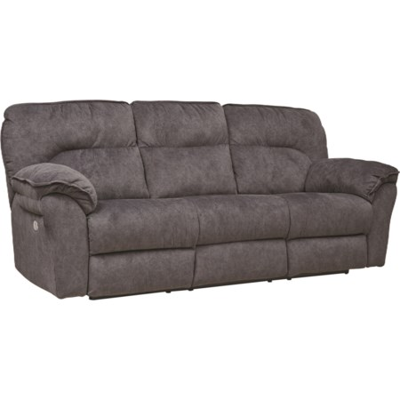 Power Headrest Double Reclining Sofa