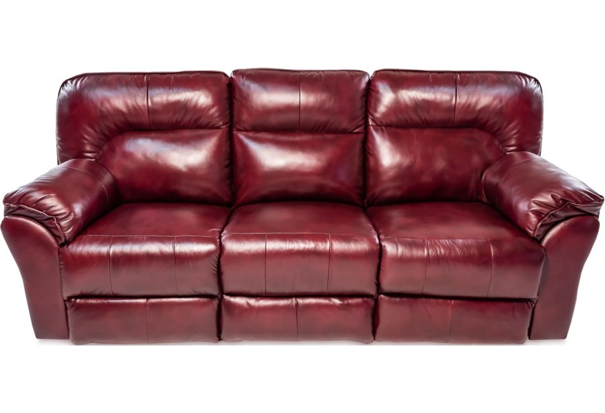 Double Reclining Leather Sofa