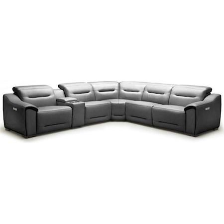 Power Headrest Reclining Sectional Sofa