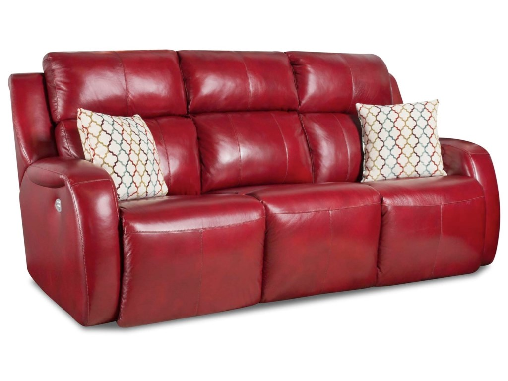 Southern Motion Grand SlamReclining Sofa w/ Pillows and Power Headrest