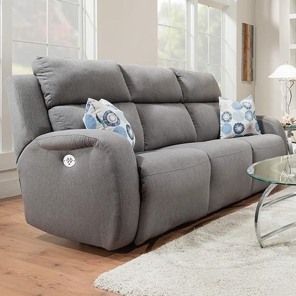 southern motion grand slam double reclining sofa with 2 pillows and power headrests - Southern Motion Furniture