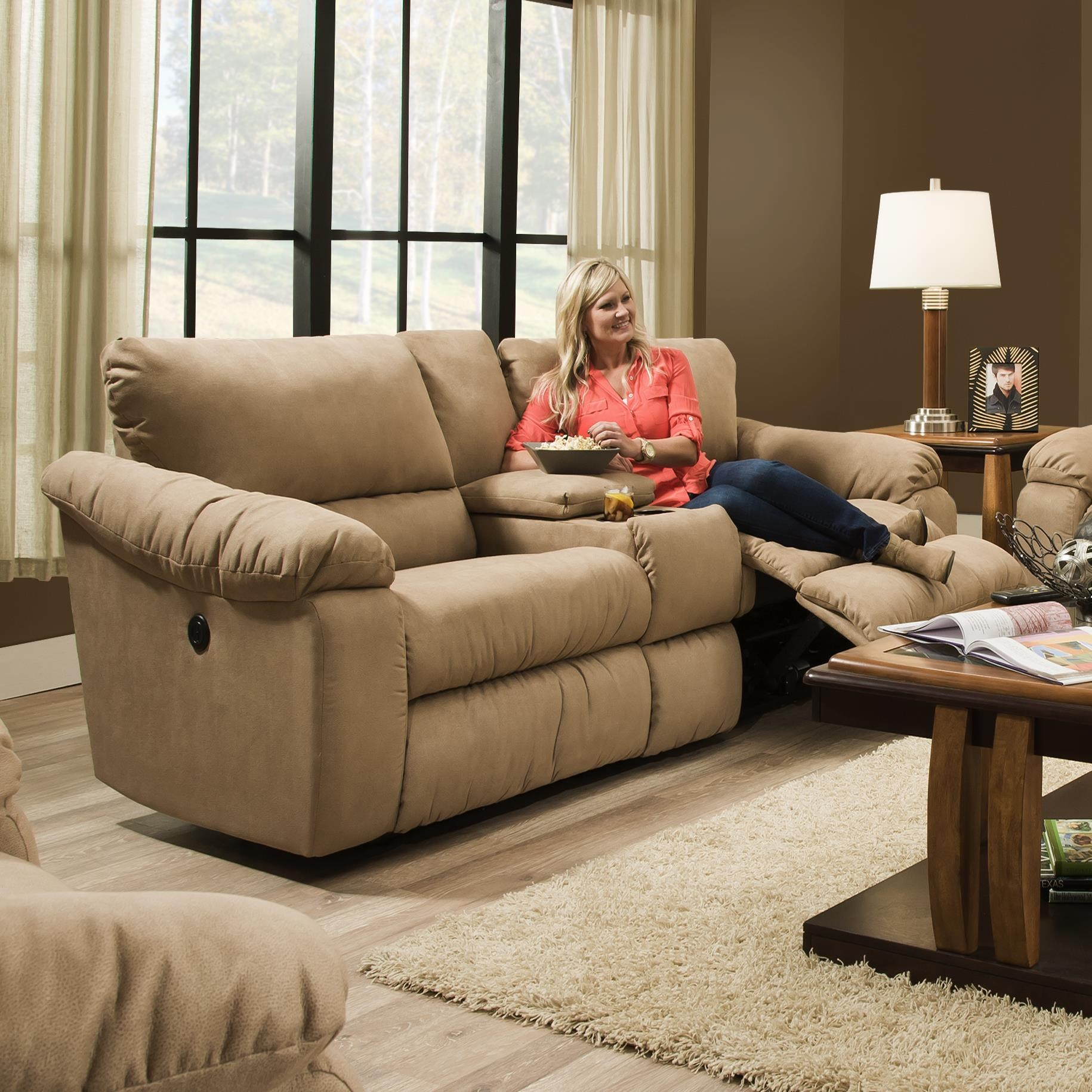 Southern Motion GravityDouble Reclining Console Sofa ...