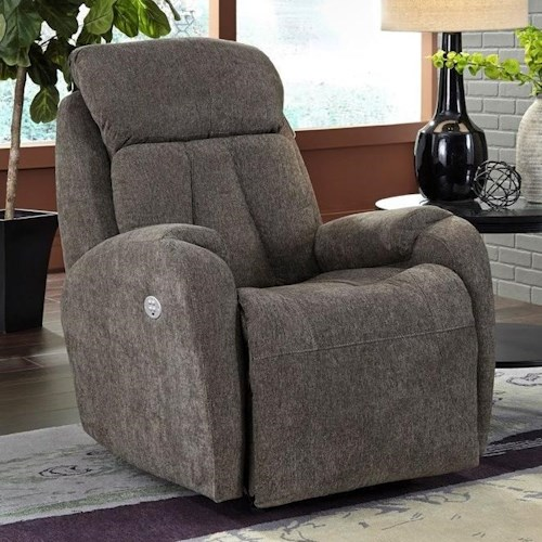 Southern Motion Hard Rock Layflat Recliner with Power Headrest