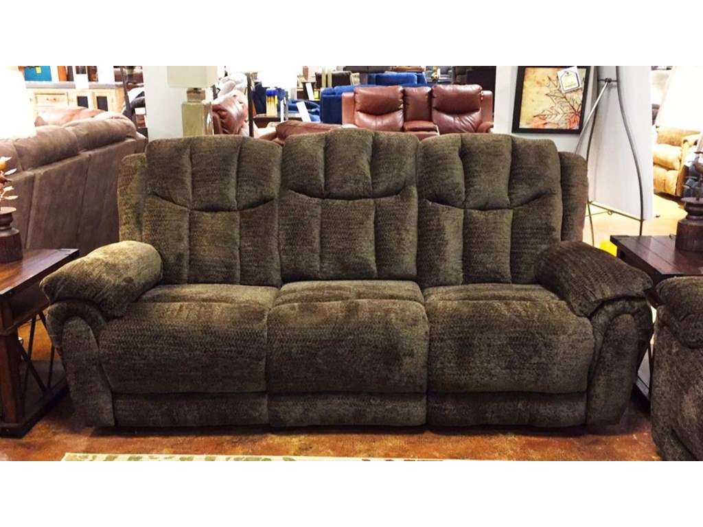 High Profile Brown Reclining Sofa By Southern Motion
