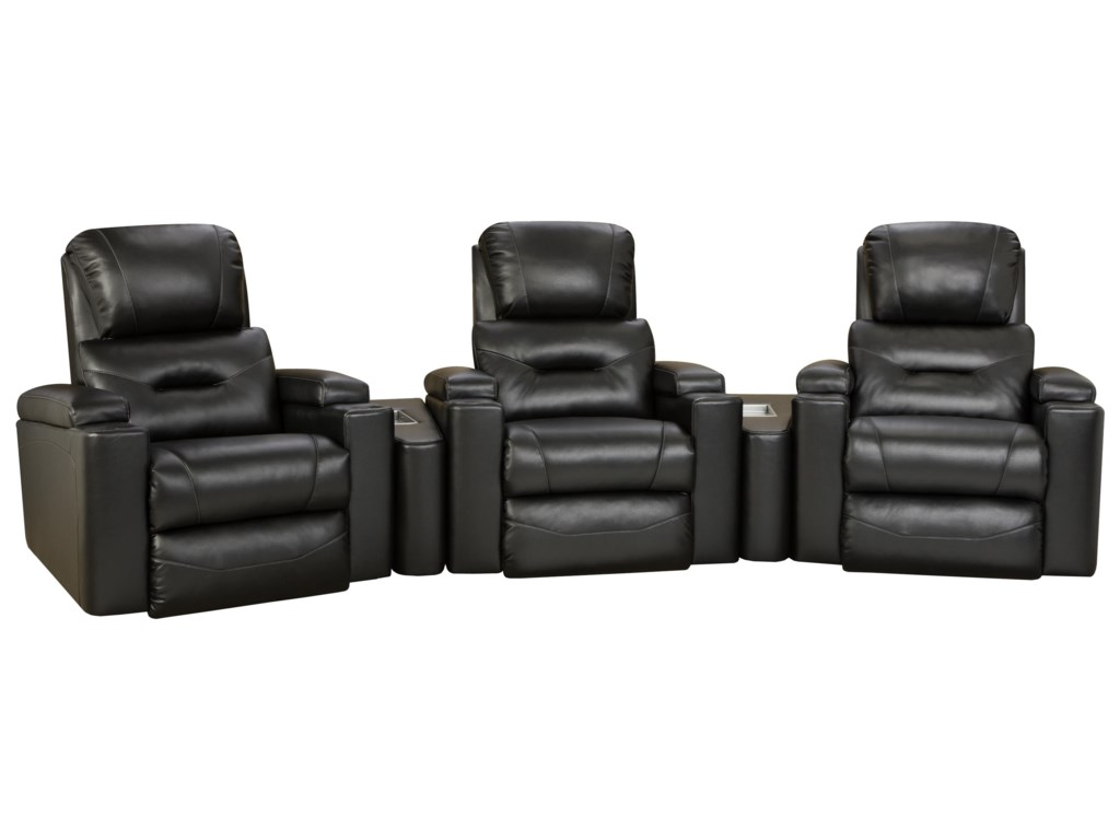 Recliner Shown May Not Represent Exact Features Indicated. Shown in Theater Seating Arrangement.