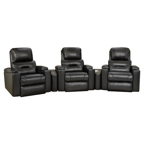 Design to Recline Infinity Theater Seating Arrangement with Lay-Flat Recliners
