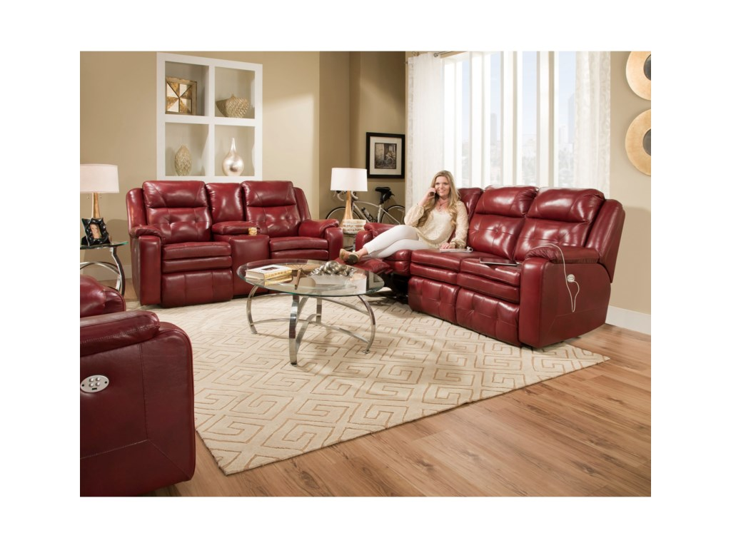 Southern Motion InspireReclining Loveseat with Power Headrest