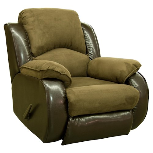 Design to Recline Jolson Casual and Contemporary Power Rocker Recliner