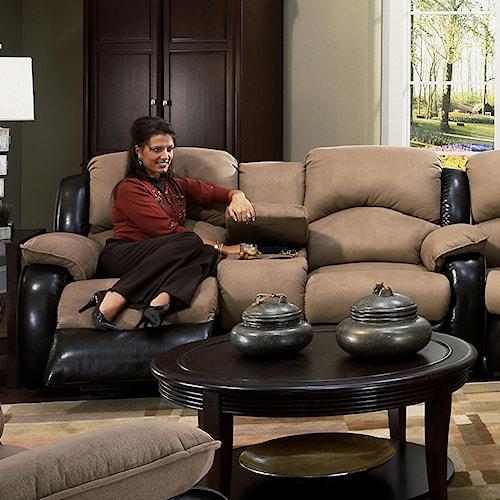 Design to Recline Jolson Reclining Console Sofa