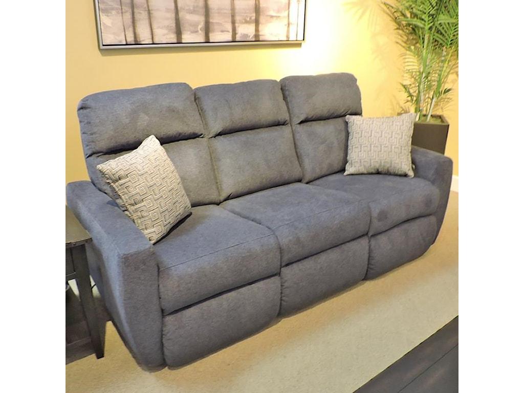 Belfort Motion JustinReclining Sofa w/ Power Headrest