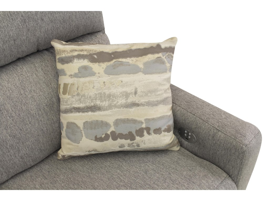 ComfortZone Knock OutReclining Loveseat w/ Pillows & Pwr Headrest